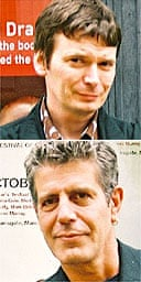 Ian Rankin (top) and Anthony Bourdain at the Dead on Deansgate festival