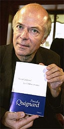 Goncourt prize-winner Pascal Quignard and Les Ombres errantes