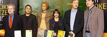 The 2005 Booker shortlisted authors, on the day before the ceremony