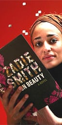 Zadie Smith with her novel, On Beauty