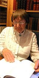 Anne Stevenson reading at the Hay Fringe Festival