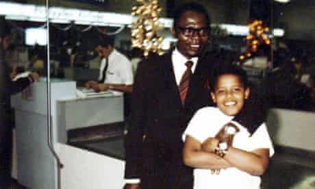 Barack Obama with his father