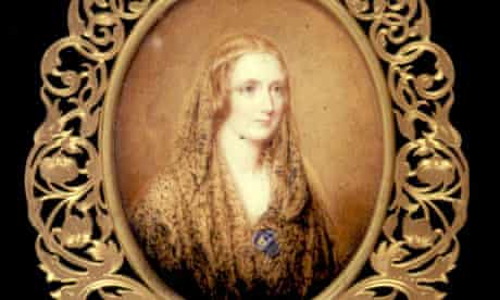 Miniature portrait of Mary Shelley