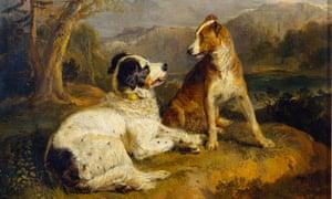 Sir Edwin Landseer's pianting The Twa Dogs