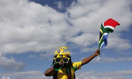 A South African football fan