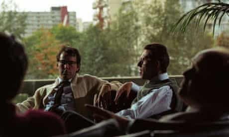 Scene from 1984 And Beyond showing SF writers talking