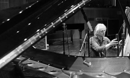 Manfred Eicher at the piano