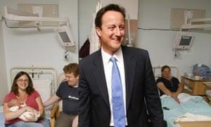 David Cameron visits maternity unit at Worthing Hospital