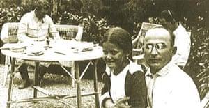 Stalin, Beria and Stalin's daughter