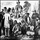 A slave market: illustration to Uncle Tom's Cabin