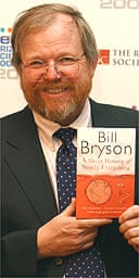 Bill Bryson at the 2004 Aventis Prizes