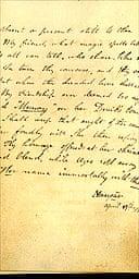 Unknown manuscript of Byron poem