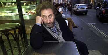 Howard Jacobson in a Soho cafe