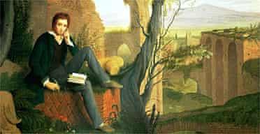 Portrait of Shelley writing Prometheus Unbound