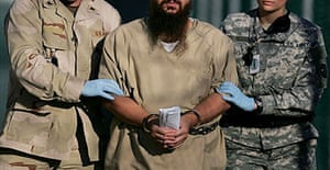 Camp Delta detainee led from his annual review