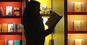 Visitor at the Frankfurt book fair. Photograph: AP