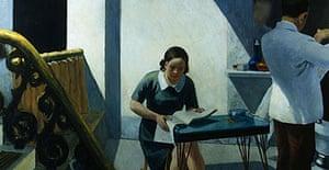 Detail from Edward Hopper's Barber Shop