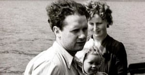 Dylan Thomas, his wife Caitlin and daughter Aeronwy
