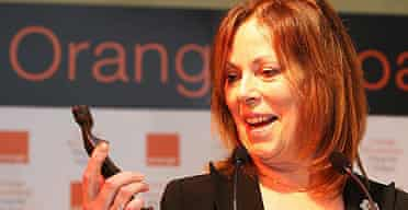 Rose Tremain with her Orange prize