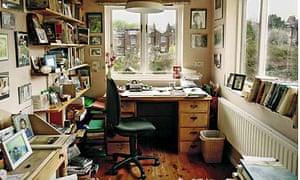 Margaret Forster's writing room