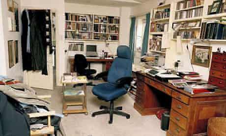 Simon Gray's writing room