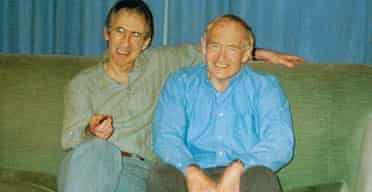 Ian McEwan with his brother David Sharp