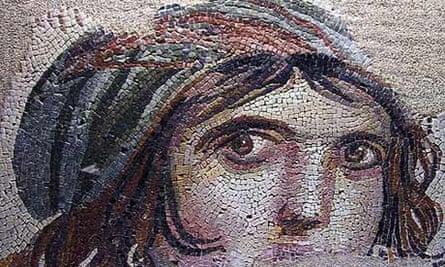 Mosaic of a gypsy girl from Zeugma, Turkey