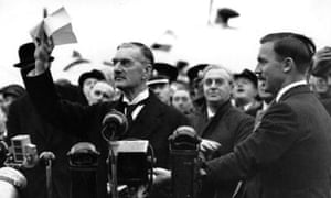 Neville Chamberlain returns from Munich