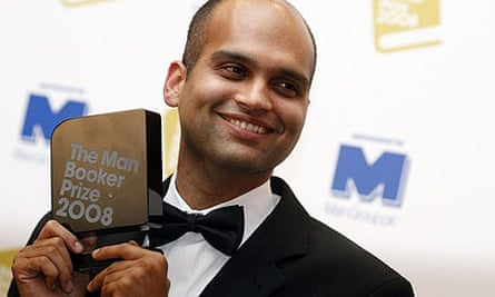 Aravind Adiga with his Booker prize