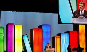 Turkish president Abdullah Gul addresses the Frankfurt Book Fair