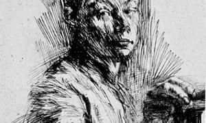 Self-Portrait, Drawn in Half-Profile to the Right, 1891-1892 by Kathe Kollwitz
