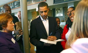 Barack Obama signs copies of his book