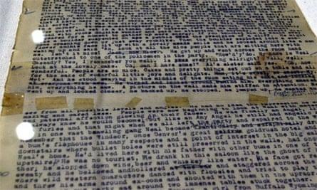 Jack Kerouac's original manuscript of On The Road