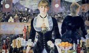 Detail fromABar at the Folies Bergeres by Édouard Manet