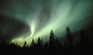 Aurora Borealis (the Northern Lights) near Gallivare, northern Sweden. Photograph: Peter Essick/Aurora/Getty