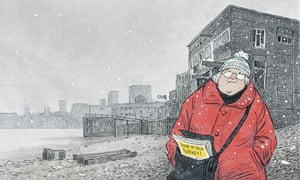 Posy Simmonds' illustration for Mrs Scrooge