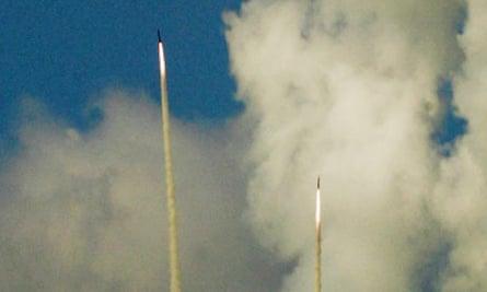 Katyusha rockets fired by Hizbullah in 2006