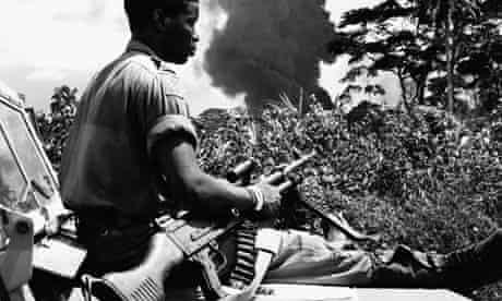 Soldier in Biafran War, 1968