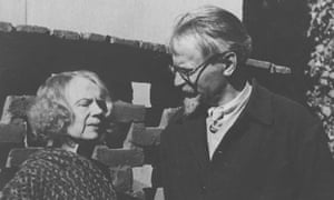 Trotsky with his wife Natalia Sedova in 1937