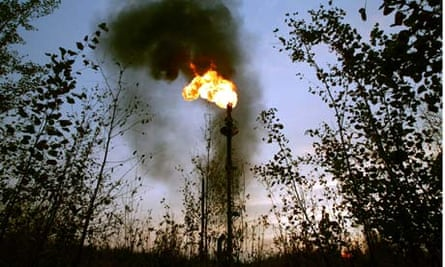 Flame at the Russian oil firm Yukos