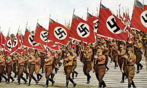 Standard bearers at a Nuremberg Nazi Party rally in 1933