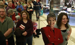 Sarah Palin fans queue to have their copies of Going Rogue signed