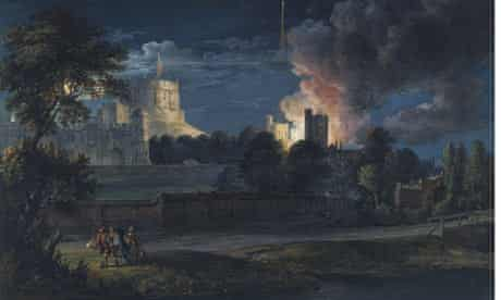 Windsor Castle painting by Paul Sandby