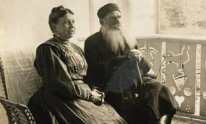 Leo Tolstoy Sitting with Wife