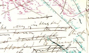 Detail of draft chapter from Joyce's manuscript of Ulysses