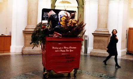 Michael Landy's Christmas tree