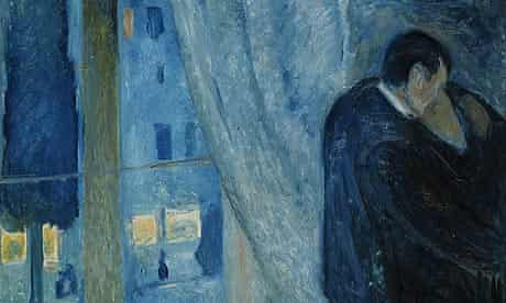 Detail from Edvard Munch's 1892 painting, The Kiss.