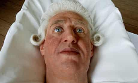 A Madame Tussaud's waxwork head of King George III