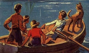 Detail from the cover of the first Famous Five book