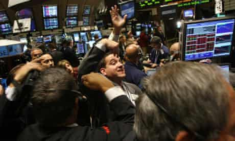 Traders at the New York Stock Exchange, September 2008